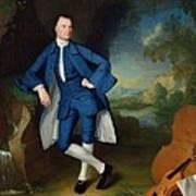 Portrait Of Man Print by George Romney