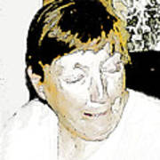 Portrait Of Tears 2 Art Print