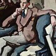 Portrait Of Willie Peploe Art Print
