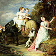 Portraits Of The Children Of The Rev. Joseph Arkwright Of Mark Hall Essex Art Print
