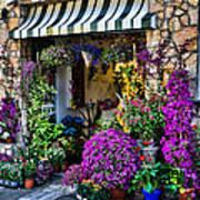 Positano Flower Shop Art Print