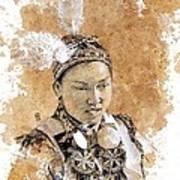 Pow Wow Girl Art Print by Debra Jones