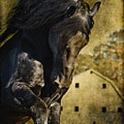 Power House Horse Art Print