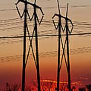 Power Towers At Sundown Art Print