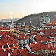 Prague - A Story Told By Rooftops Art Print by Christine Till