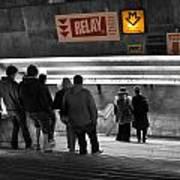 Prague Underground Station Stairs Art Print