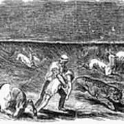 Prairie Fire, 1844 Art Print