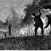 Prairie Fire, 1874 Art Print