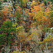 Prarie Hollow Gorge In Autumn Art Print