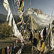 Prayer Flags Hang In The Breeze Art Print