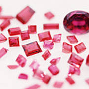 Precious Gemstones Art Print