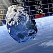 Predicting Asteroid Impact, Artwork Art Print by Detlev Van Ravenswaay