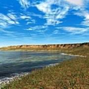 Prehistoric Coastal Landscape, Artwork Art Print