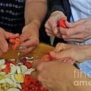 Preparing Salad Art Print