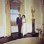President And Jacqueline Kennedy Art Print