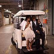 President And Michelle Obama Ride Art Print by Everett