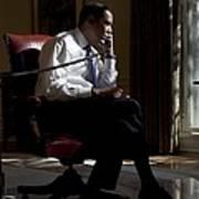 President Barack Obama At His Oval Art Print by Everett