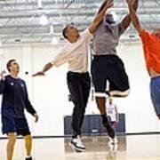 President Barack Obama Attempts Art Print