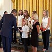 President Barack Obama Greets The 2009 Art Print