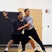 President Barack Obama Guards Art Print by Everett