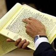 President Barack Obama Holds Art Print by Everett