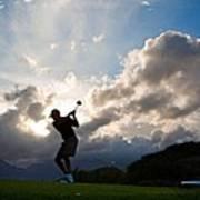 President Barack Obama Plays Golf Art Print