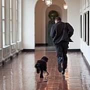 President Barack Obama Runs Art Print
