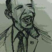 President Barack Obama Art Print by William Winkfield