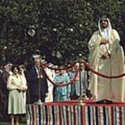 President Carter And Prince Fahd Bin Art Print by Everett