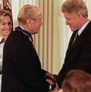 President Clinton Awards Former Art Print