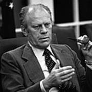 President Ford During A National Art Print by Everett