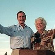 President George Bush And Barbara Bush Art Print