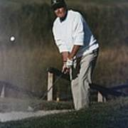 President George Bush Plays Golf Art Print by Everett