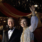 President Jimmy Carter And First Lady Art Print