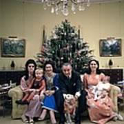 President Johnsons Family Celebrating Art Print by Everett
