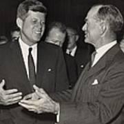 President Kennedy Talking With Arkansas Art Print