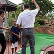President Michelle Obama React Art Print by Everett