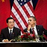 President Obama And Chinese President Art Print