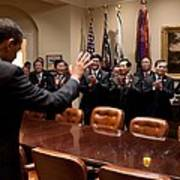 President Obama Bids Farewell Art Print