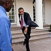 President Obama Practices Print by Everett