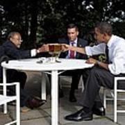 President Obama Professor Henry Louis Print by Everett