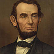 President Of The United States Of America - Abraham Lincoln  Art Print