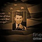 President Reagan Art Print
