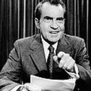 President Richard Nixon Presents A New Print by Everett