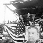 President Taft Giving A Speech In Augusta - Georgia C 1910 Art Print