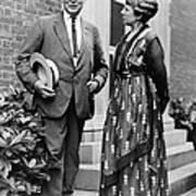 President Warren Harding With First Art Print