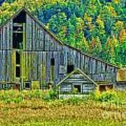 Prest Road Barn Hdr Art Print