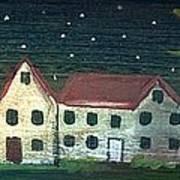 Prim Houses All In A Row Art Print