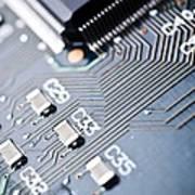 Printed Circuit Board Components Art Print