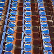 Programs On Rows Of Seating Art Print by Marlene Ford